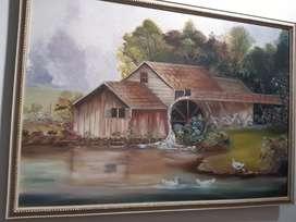 Cuadro pintado a oleo
