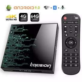 Tv box 4gb ram y 32 gb + teclado inalambrico
