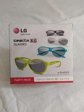 Gafas 3d televisores lg