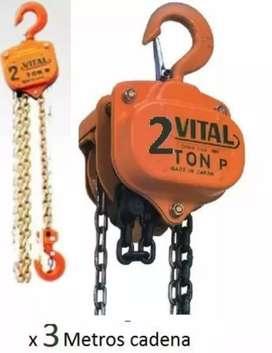 Diferencial vital de 2 toneladas con 3 metros de cadena