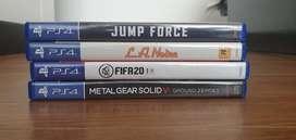 Vendo juegos PS4 físicos.