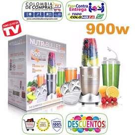 Extractor Nutribullet Pro 900w 15 Piezas Batidos Salud, Nuevos, Originales, Garantizados...