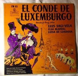 Disco de vinilo de EL CONDE DE LUXEMBURGO