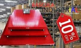bascula plataforma industrial 2 toneladas