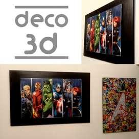 Cuadros decorativos - Super Héroes - Marvel - DC