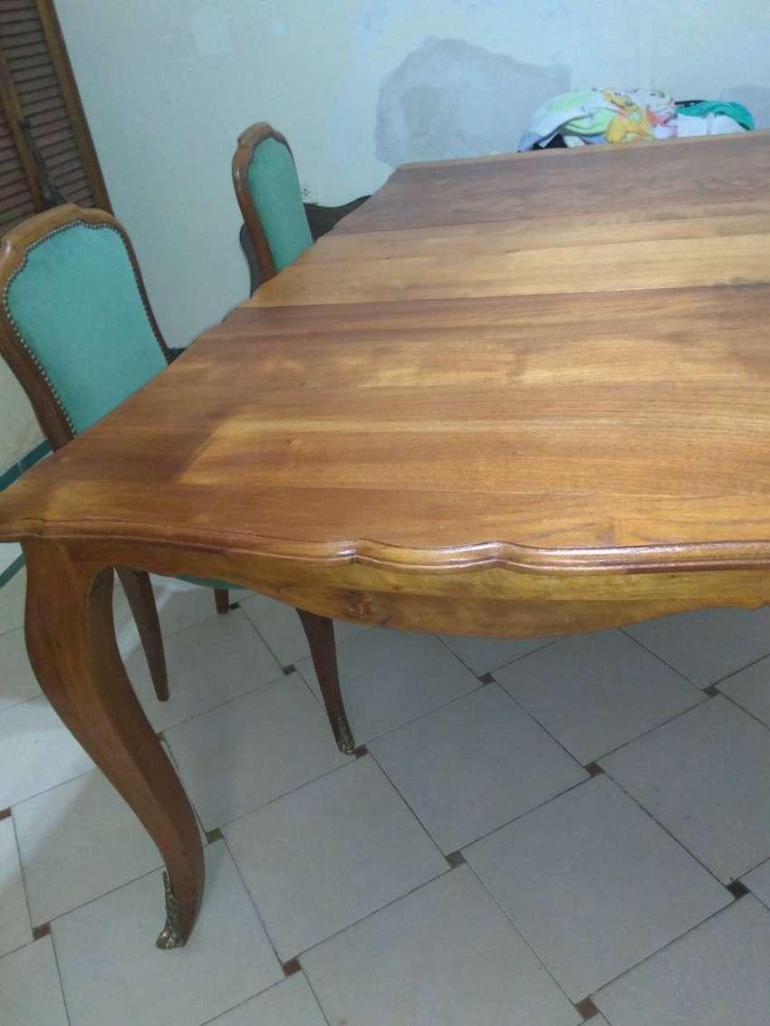 6 sillas + mesa Luis xv 0