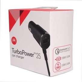 Cargador Auto Motorola Turbo 25w Tipo C Original Moto Caja TRIBUNALES