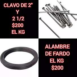 clavos y alambre
