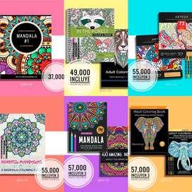 Mandalas y Libros para colorear
