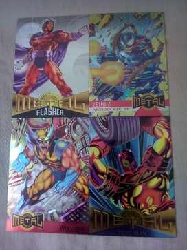 1995 Tarjeta de Metal Marvel 4 Hoja Prom