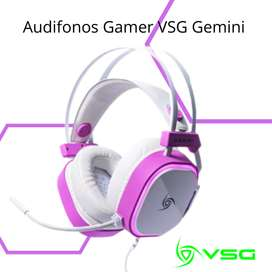 Audifonos Gamer VSG Gemini White