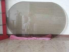 vidrio cubierta de comedor color bronce