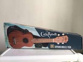 Ukelele Soprano UK1 Carlo Robelli con Afinador