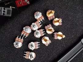 POTENCIOMETROS A500 B500 STRATOCASTER TELECASTER GUITARRA
