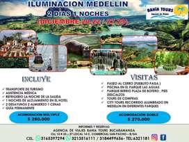 TOUR ILUMINACION MEDELLIN PARQUE LAS  AGUAS SALIDA 18 DICIEMBRE