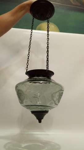 Candelabro Colgante Antiguo Cristal