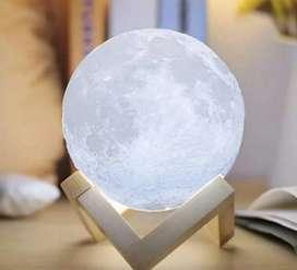 Lámpara en forma de luna con base