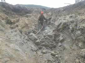 voladura  expansivo eliminación de rocas  enrocado defensa ribereña comprensora
