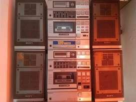 2 equipos de sonido sony fh 7 para reparar