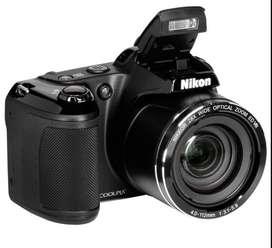 Cámara digital Nikon Coolpix L840  estuche  cargador  SD8gb  4 baterías recargables