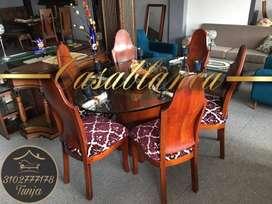 Comedor ovalado Casablanca muebles Tunja