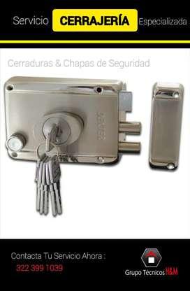 Servicio de Cerrajeria en Madrid Cundinamarca - Mosquera - Funza - Cambio de Guardas - Aberturas de Puerta - Cerrajería