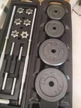 Vendo o permuto por filmadora set de mancuernas y barra