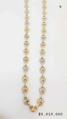 Hermosas cadenas en oro de 18kt