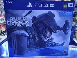 Consola PS4 Pro Call Of Duty Modern Warfare 4k 1TB Sellado Oferta