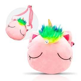 Bolso Cruzado Unicornio Felpa Niña Suave BOLUNC1