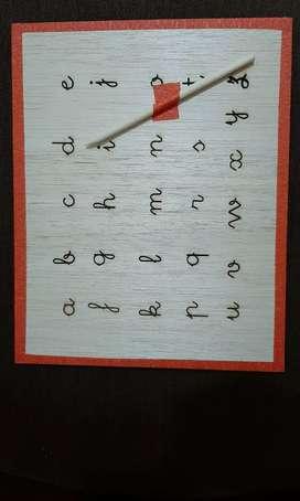 Tablero abecedario y pizarra magnética