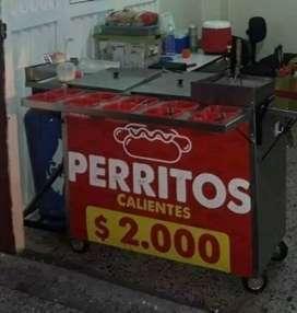Vendo carros de comidas rapidas