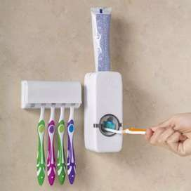 Dispensador Crema Dental con soporte de cepillos