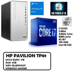 HP PAVILION  TP01  INTEL CORE I5  10700   N  U   E   V  O