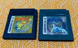 2x90soles, Juegos pokemon Gold and Silver para Gameboy color