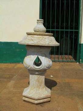 Lámparas Pagodas en Piedra Barichara
