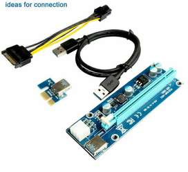 PCI-E 1x a 16x USB 3.0 Powered Extender Riser Card