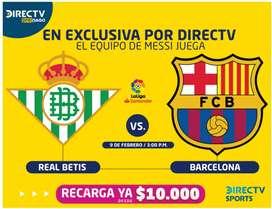 Se venden kit DirecTv prepago, mas de 163 canales en HD.  Tv satelital ideal para fincas o casas en zona rural.