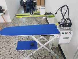Mesa para planchar al vacio con generador de vapor + plancha