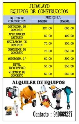 ALQUILER DE EQUIPOS PARA CONSTRUCCION
