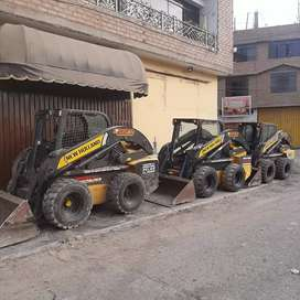 Alquiler de minicargador bobcat eliminación de desmonte demoliciones arena de río retro excavadora Volquetes Afirmado