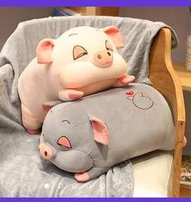 Peluche y cobija cerdo