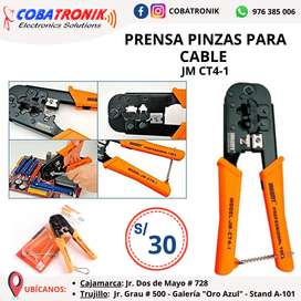 Prensa Pinzas para Cable JM CT4-1