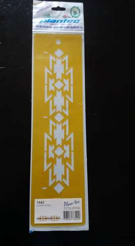 STENCIL PLANTEC GUARDA AZTECA 1542 30 X 8 CM