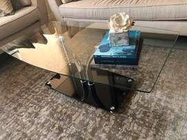 Mesa de centro de vidrio