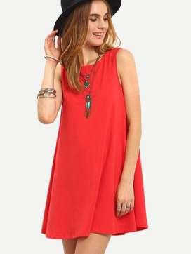 Vestido Carmel Rojo - Caído tipo princesa