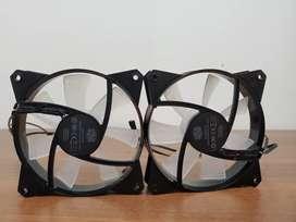 2 Ventiladores cooler máster masterfan MF121L RGB como nuevos