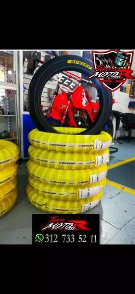 Llantas de goma dunlop moto 3 totalmente nuevas para RX Y DT
