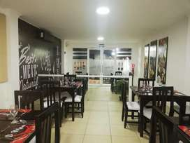 Se alquila local equipado para restaurante en excelente zona