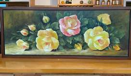 Rosas oleo sobre lienzo